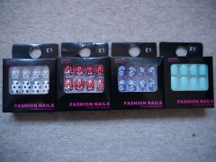 Packs of 'Fashion Nails' 24 nails with adhesive, Primark, £1